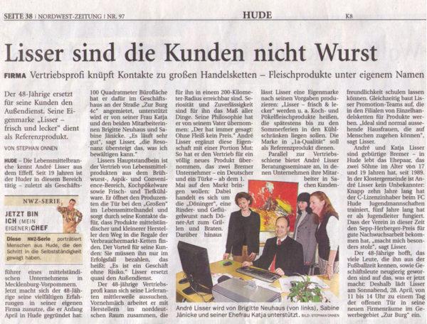 Zeitungs-Anzeige